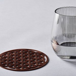 Coaster sized 140mm 5.5 inches flower of life pure copper resonance plate perfect for energising your water
