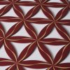 Flower of Life (Line Pattern) Red With Gold Trim