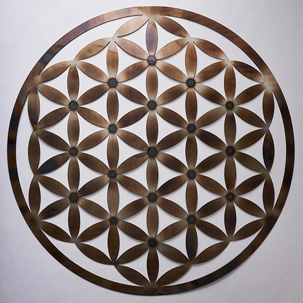 Flower Of Life Heat Treated Resonance Plate