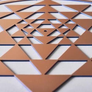 Sri Yantra Copper Resonance Plate