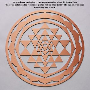 Sri Yantra Copper Plate to show the true reresentation of the design of the Sri Yantra resonance plate