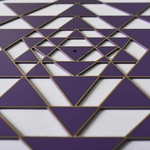 Sri Yantra Purple with gold trimSri Yantra Purple with gold trim