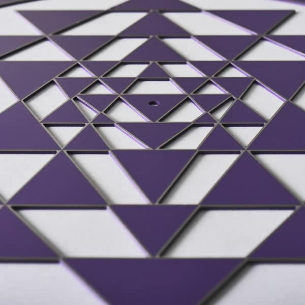 Sri Yantra Purple with silver trim