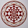 Sri Yantra Red with gold trim