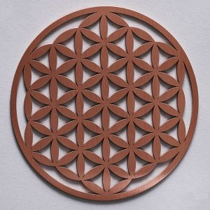 Flower of Life mini plate 140mm, Copper resonance plate