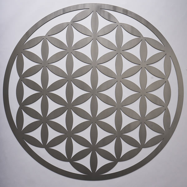 Flower Of Life Stainless Steel Resonance Plate
