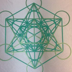 Metatron's Cube Green with gold trim - personalised green by a customer