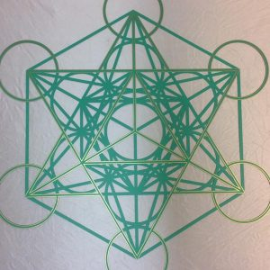 Personalised colour Green Metatron Cube