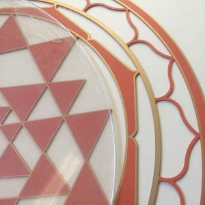 Sri Yantra with Silicone Cover used to protect the resonance plates