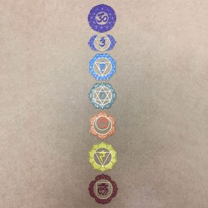 The whole seven chakra steel plates together created to use as a tool for meditation, healing and self development and growth