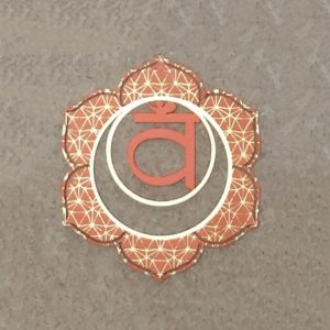 Sacral Steel Chakra Plate as part of a seven set, a tool to be used in meditation and healing