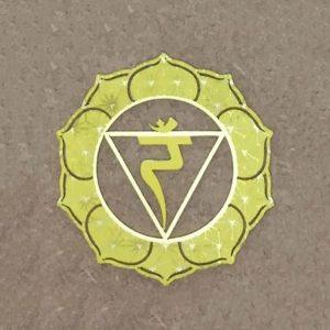The solar plexus steel Chakra Plate