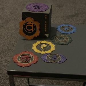 Seven Steel Chakra Plate Collection to aid with healing and meditation