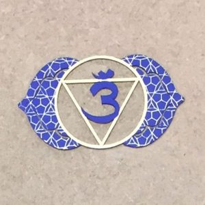 Third Eye Chakra Steel Plate part of a seven plate set and has a chakra alignment cream as part of the collection